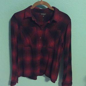 Top shop flannel button up